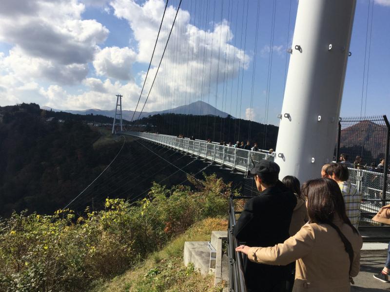 日本一の大吊橋(大分県九重町)