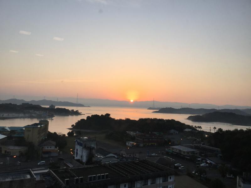 天草の朝日